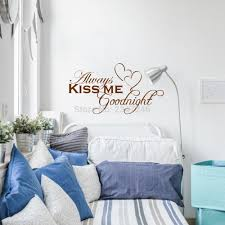 online get cheap love quotes kiss aliexpress com alibaba group love quotes wall decors always kiss me goodnight diy removable art vinyl wall sticker decal mural