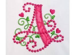 Create Monogram Initials Letter A Applique Machine Embroidery Design Monogram Initials