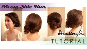 messy side bun hairstyle tutorial awesome quick and easy youtube