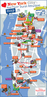 map new york map of nyc tourist attractions sightseeing tourist tour