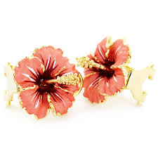flower earrings hawaiian hibiscus flower earrings fantasyard costume