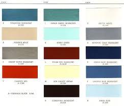 1961 buick exterior paint chip palette