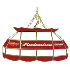 budweiser stained glass pool table light budweiser 40 inch stained glass pool table light amazon co uk