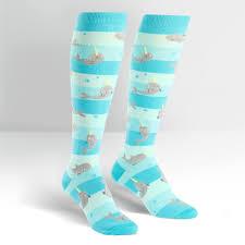 unicorn of the sea socks knee high for