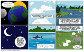 what day did god create light bible project creation storyboard by morgankelley