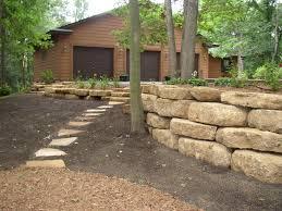 retaining walls modular block natural stone and boulders
