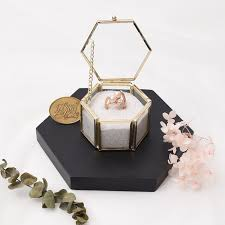 jewelry rings box images Usd 7 81 wedding ring box glass jewelry box gold transparent jpg