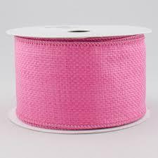 jute ribbon 2 5 water resistant woven faux jute ribbon fuchsia pink 10