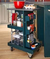 kitchen cart ideas glamorous kitchen storage ideas use a rolling cart that tucks away