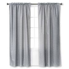 Light Block Curtains Light Blocking Curtain Panel Gray Chevron 42x84 Room