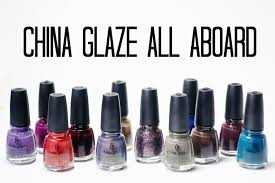 review and swatches china glaze all aboard collection youtube