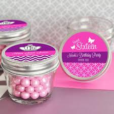 Mason Jar Party Favors Personalized Sweet 16 15 Mini Mason Jar Favors 4 Oz