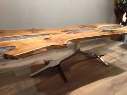 Slab Dining Room Table by Marvelous White And Natural Wood Dining Table For Ingenious