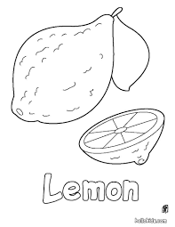 lemon coloring pages hellokids com