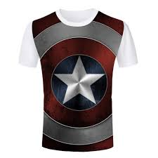 wholesale new summer style 3d captain america t shirts men models