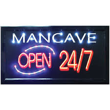 Open Light Up Sign New Man Cave Open 24 7 Led Hanging Sign Light Up Your Bar Bedroom