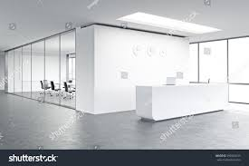 White Wall by Empty Office White Reception White Wall Stock Illustration