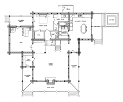 Floor Plans For Log Cabins Log Home Floor Plan New Frontier