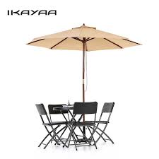8 Patio Umbrella Ikayaa Us Stock Wooden 2 7m Patio Umbrella Outdoor Cafe
