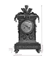 deniere manufacture beautiful antique louis xvi style clock made