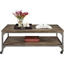 ameriwood home cecil wood veneer coffee table rustic medium oak