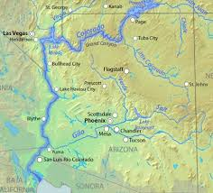 Arizona rivers images Map of lower colorado river towns and lakes sealife arizona jpg