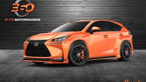 2015 lexus nx 200t f sport gets an aggressive look from 360 elite