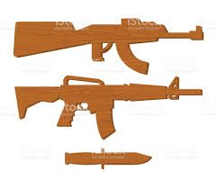 wooden gun kids set board weapons and knife childrens military toy