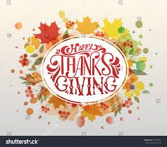 thanksgiving typography poster celebration stock vector