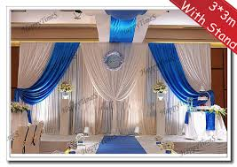 Blue Swag Curtains 3 3m Wedding Background Decorations Curtain Backdrop And Royal
