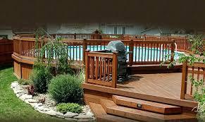 24 foot round above ground pool deck plans round above ground pool