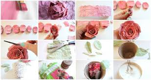 watercolor paper flower tutorial love blooms faux mulberry watercolor paper rose tutorial