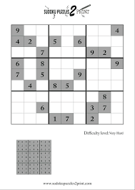 hard sudoku puzzle to print 7