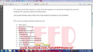 What Is Employer Mean What Is Ctc Cost To Company Youtube