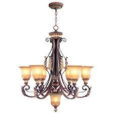 Gold Leaf Chandelier Livex Lighting 8555 63 Villa Verona Chandelier Amazon Com