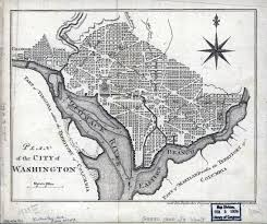 map usa in 1800 large detailed plan of the city of washington 1800