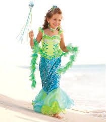 Catching Fireflies Halloween Costume Blue Fairytale Mermaid Girls Costume Chasing Fireflies