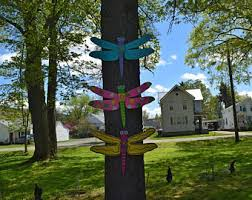 Fence Decorations Dragonfly Garden Etsy
