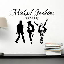 2017 new removable vinyl wall stickers michael jackson mj music