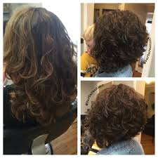 kenra color diagonal forward haircut asymmetrical natural curls