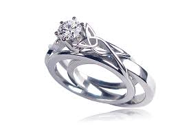 celtic engagement rings celtic engagement rings talitha with insert wedding band