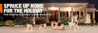 Christmas Reindeer Yard Decorations Home Depot by Garden Decor Home Depot Home Decor