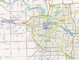 Jackson Michigan Map by Ann Arbor Kiwanis Thrift Sale Building Map