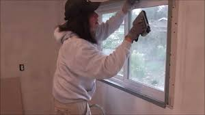 How To Hang Door Beads by Drywall Technique How To Create Trimless Windows Youtube