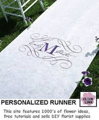 Personalized Aisle Runner Monogram Aisle Runner By The Original Runner Company Featured On
