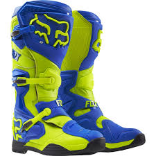 motocross boots closeout fox racing 2016 comp 8 boots blue yellow available at motocross giant