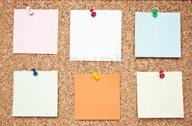 pin board blank memo notes on cork board stock photo colourbox