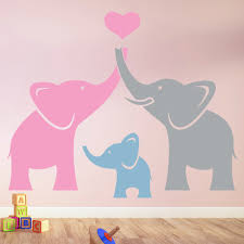elephant family wall sticker cute animals wall decal nursery home elephant family wall sticker cute animals wall decal nursery home decor