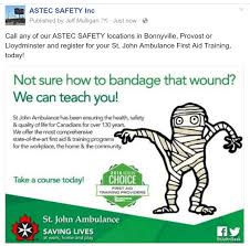 st john ambulance first aid training astec safety inc