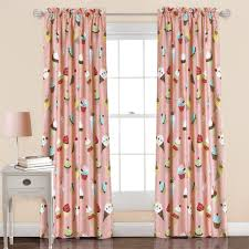 Curtains Set Cupcake Window Curtain Set Lush Decor Www Lushdecor